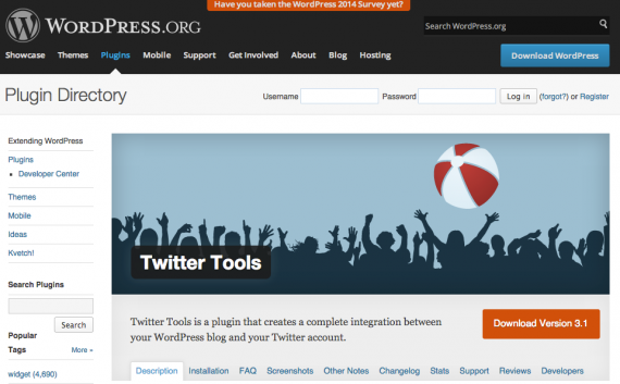 Twitter Tools is a plugin that integrates Twitter into a WordPress site.