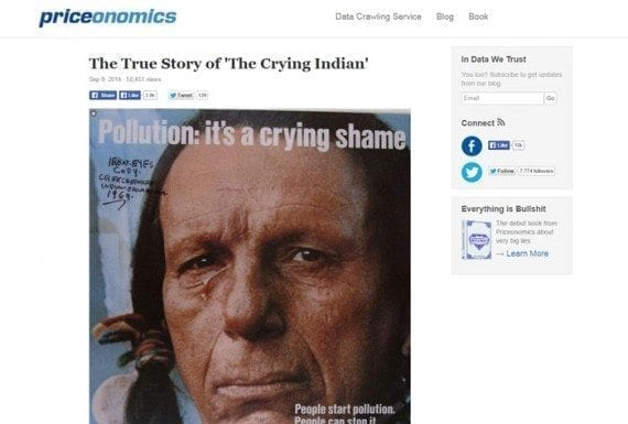 Iron Eyes Cody was not a Native American, according to this article.