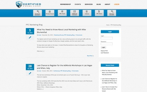 Certified Knowledge Blog website