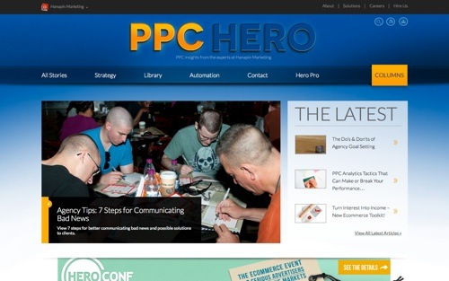 PPC Hero website