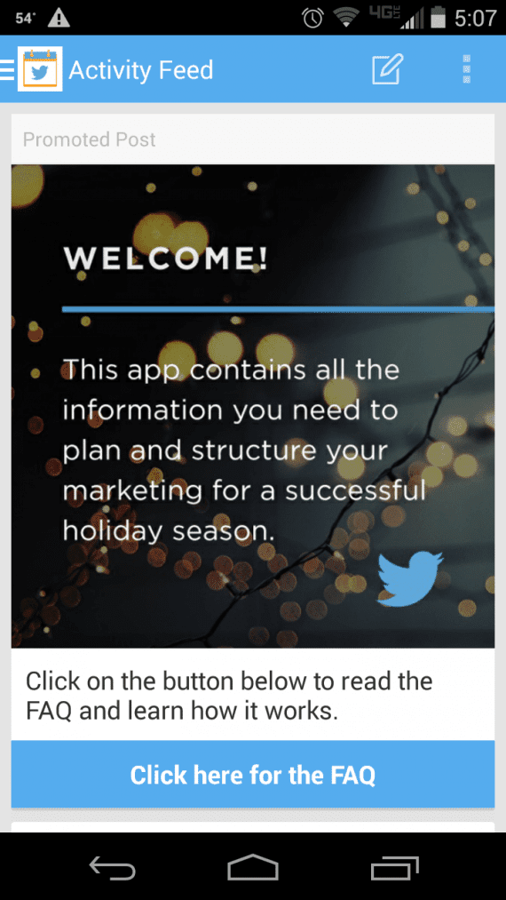 Twitter launched the Small Business Planner app to help with holiday promotions.