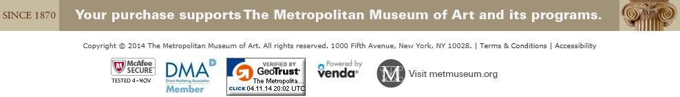 The website for Metropolitan Museum of Art displays trust seals from McAfee and GeoTrust, among others.