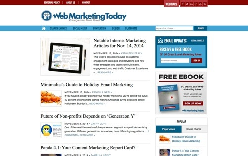 Web Marketing Today website