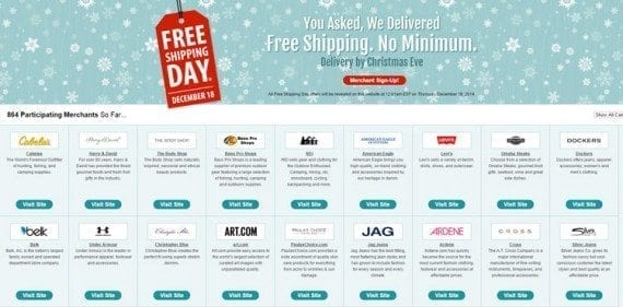 Free Shipping Day is December 18, 2014.
