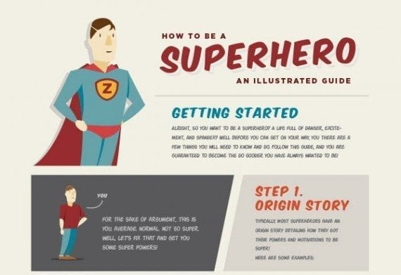 This superhero infographic is engaging and entertaining.