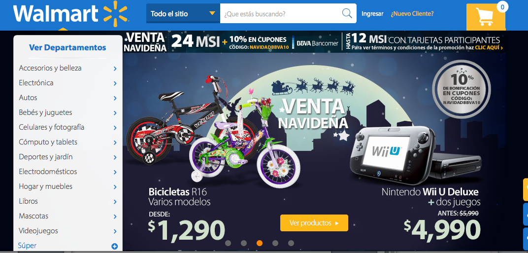 In Mexico, Walmart appeals mostly to a wealthier demographic, relatively.