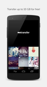 WeTransfer on Android.