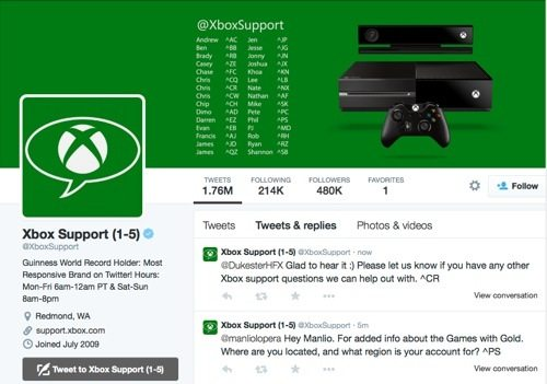 Xbox Support on Twitter
