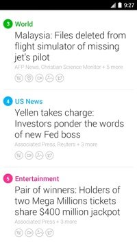 Yahoo News Digest on Android.