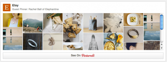 Pinterest integrates with Etsy.