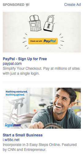 Even Facebook Ads use larger images than in the past.