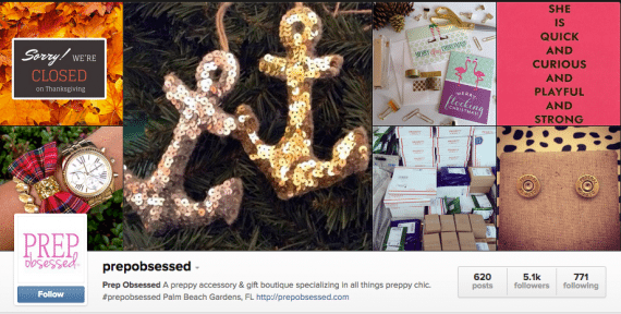 Online retailer Prepobsessed uses Soldsie to manage ecommerce transactions on Instagram.
