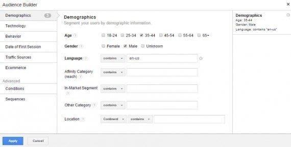 "Google Analytics refreshed ""Remarketing Segmentation"" by adding new ways of slicing audience demographic data."