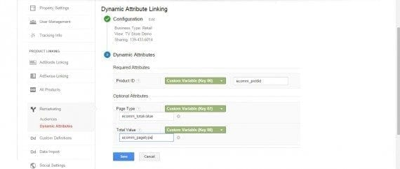 Setting up Dynamic Attribute linking.