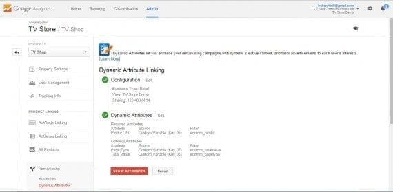 Enable the Dynamic Link in Admin > Property > Dynamic Attributes.