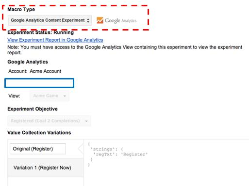 Google Tag Manager integration with content experiments provides an easy way to set up and run experiments.