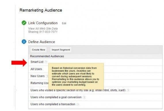 """Smart Lists"" automates and refines the decision making process of remarketing."