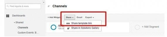 Permalink shared assets is a simple way to share Google Analytics configurations across your organization.