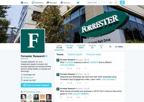 Forrester on Twitter.