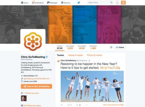 Citrix GoToMeeting on Twitter.