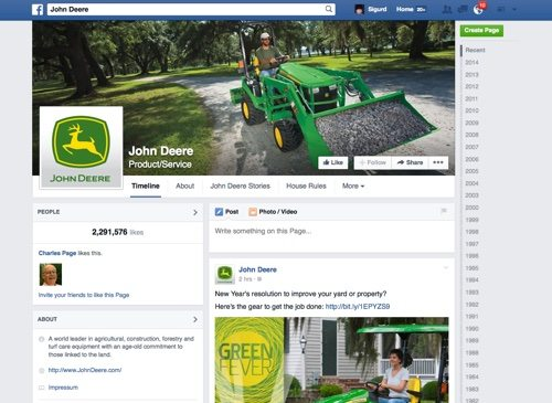 John Deere on Facebook.