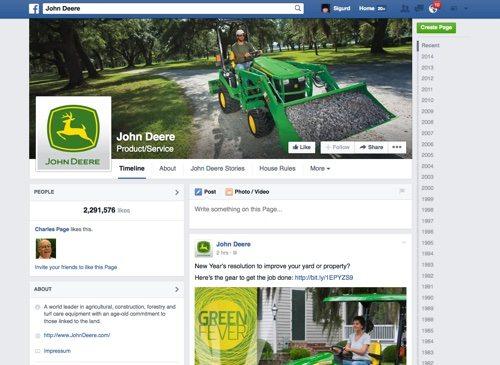John Deere on Facebook.