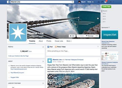 Maersk Line on Facebook.