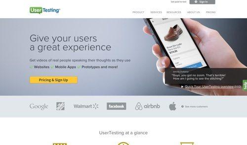 UserTesting website
