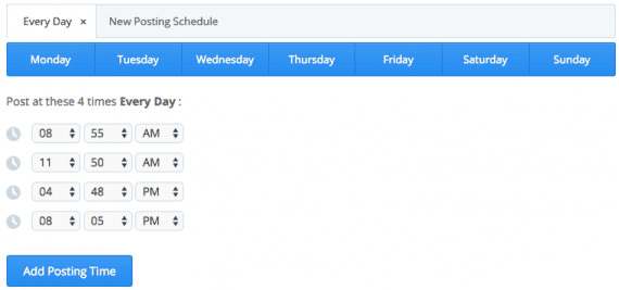 Buffer enables custom scheduling of content by social network.