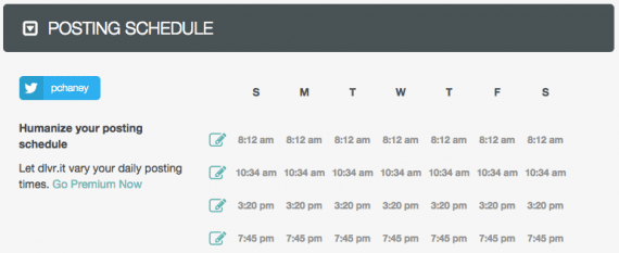 The Q sends messages based on preset timetable.