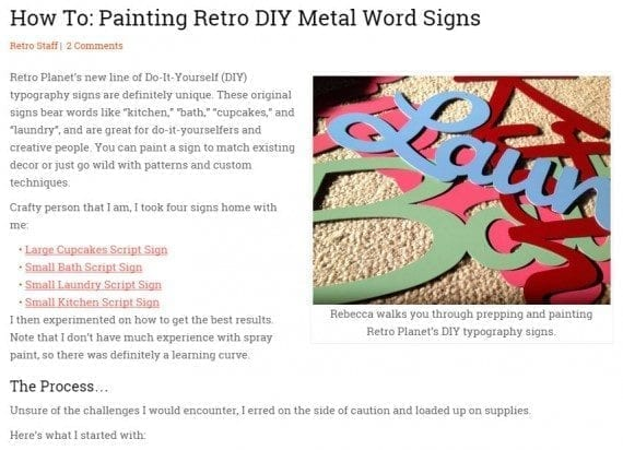 This how-to post explains in detail how to paint RetroPlanet.com's virgin script signs. It goes beyond the product page with step-by-step instructions.
