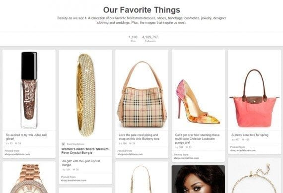 Nordstrom is a master of pinning.
