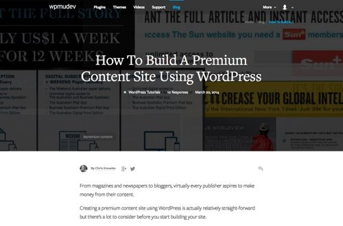 How To Build A Premium Content Site Using WordPress.
