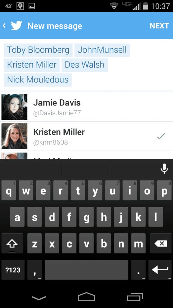 Twitter group messaging