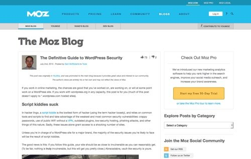 The Definitive Guide to WordPress Security.