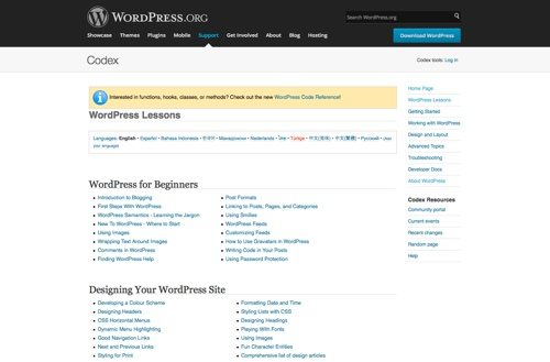 WordPress Lessons.