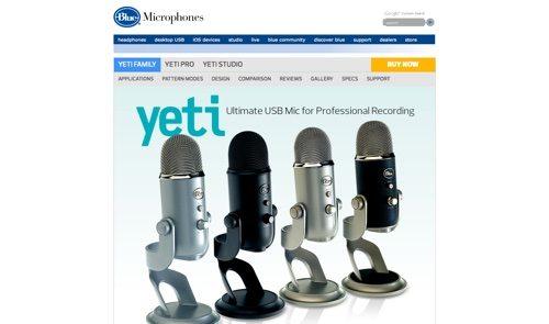Blue Yeti Microphones.