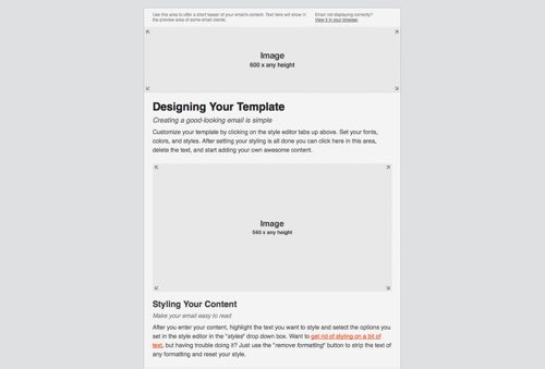 Email Blueprints from MailChimp.