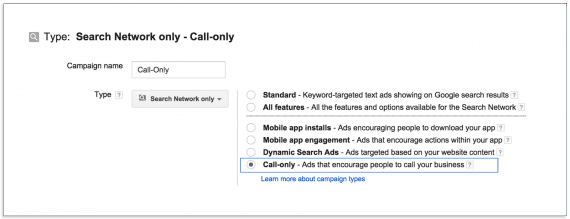 "Google's new ""call-only"" campaigns targets mobile devices."
