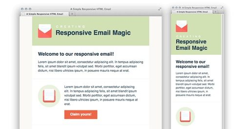 Simple Responsive HTML Email.