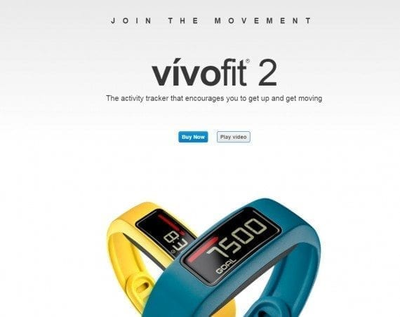 The landing page for the vivofit begs users to just buy it — or, you can watch a video.