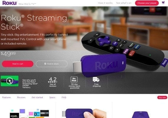 All the key components are here: what it is, how it works, and what other users think. (Source: Roku.com)