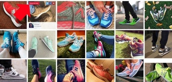 New Balance has a section of customer-supplied product images.