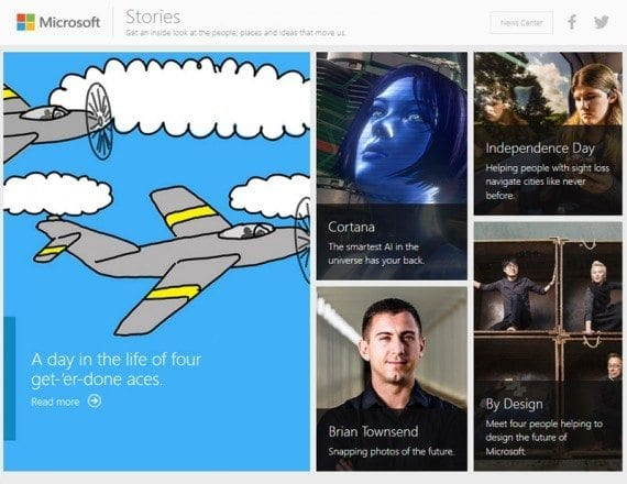 Microsoft uses storytelling to put a human face on its company.