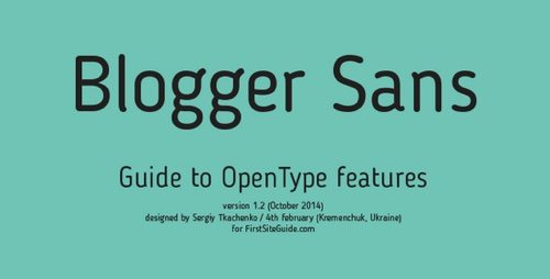 Blogger Sans.
