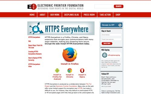 Electronic Frontier Foundation - HTTPS Everywhere.