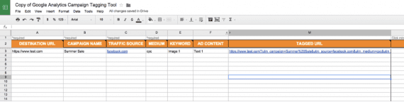The Cardinal Path campaign tagging tool in Google Analytics applies to large-scale operations.