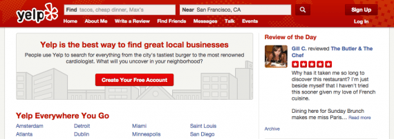 Yelp is a leading consumer-focused reviews site.