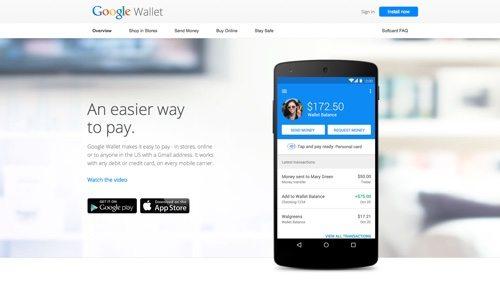 Google Wallet website