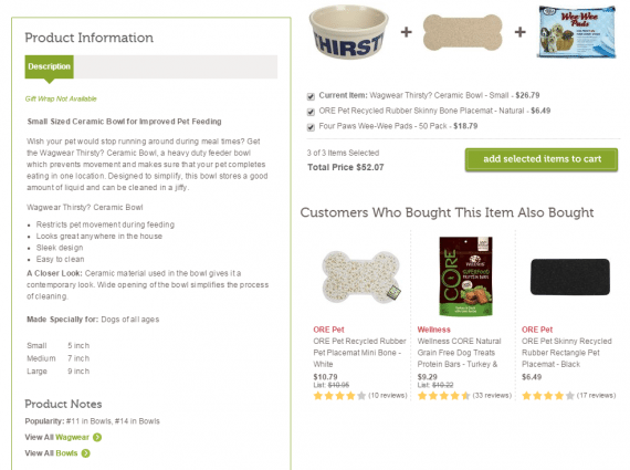 Would you spend $26.79 on a water bowl for your dog? The decision might hinge on the product description.  Source: Wag.com